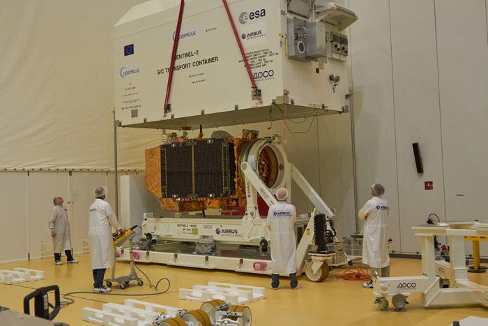 Sentinel-2B coraz bliżej wystrzelenia w kosmos