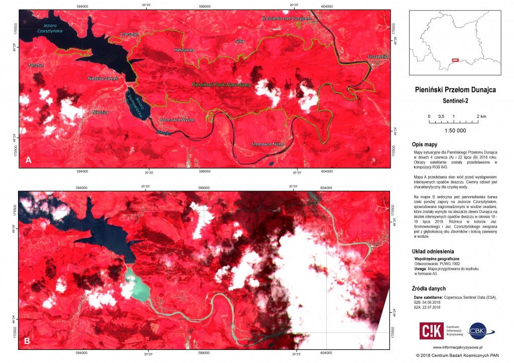 Mapy sytuacyjne: Pieniński Przełom Dunajca