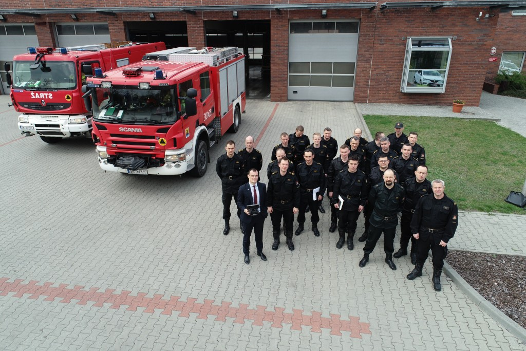 Training for officers of the State Fire Service from the Silesian Voivodeship